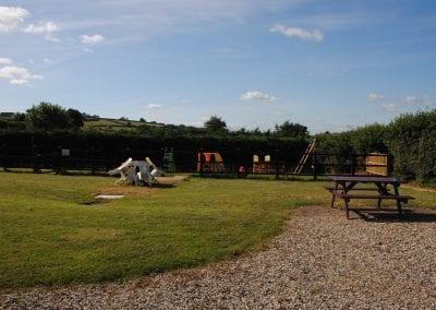 Devon Palms rear garden play area